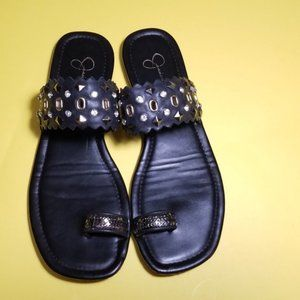 Jessica Simpson Embellished bling Thong Sandals
